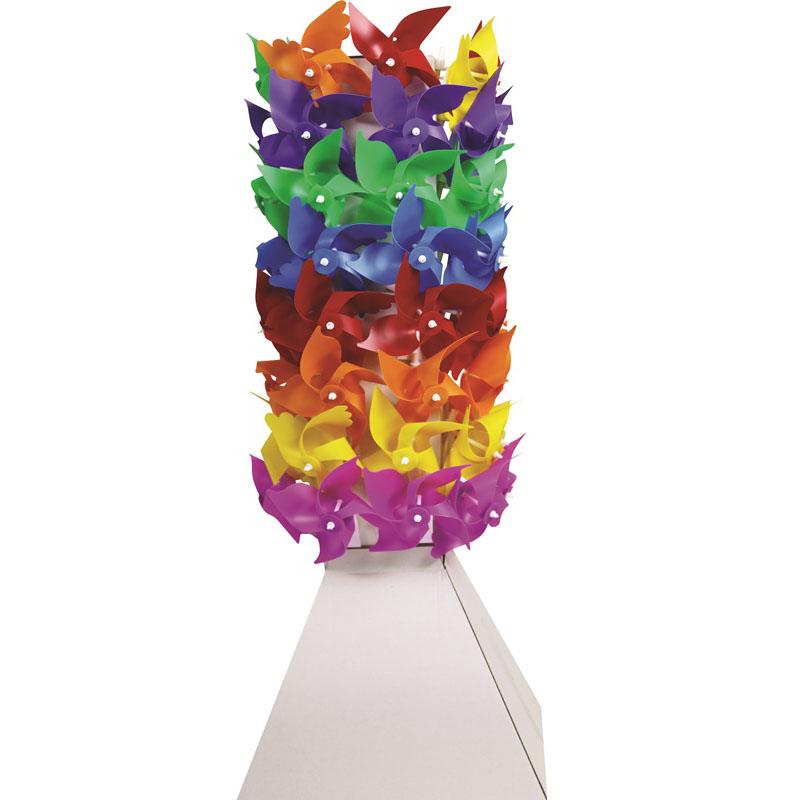 4 Kanatlı Plastik Rüzgar Gülü Kule Set