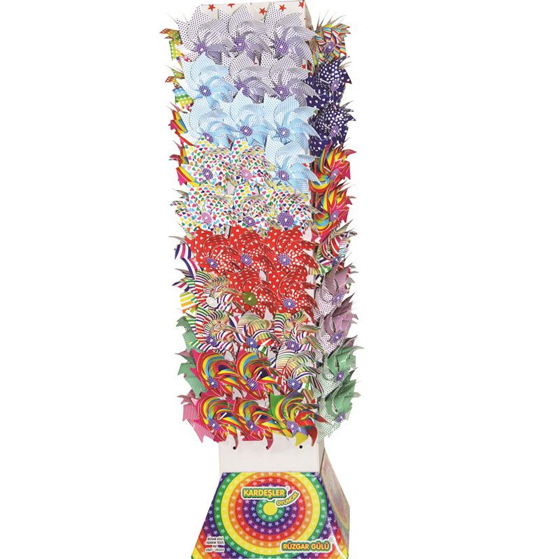 Renkli Baskılı Rüzgar Gülü Kule Set